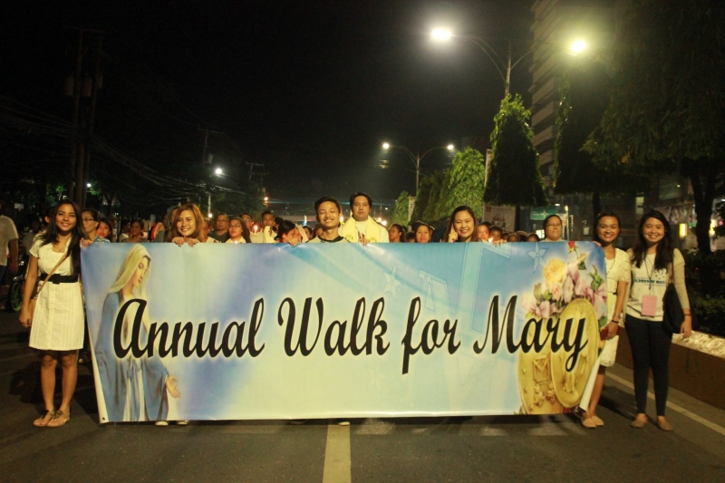Marian Devotees Gather to Honor the Blessed Virgin Mary in Cebu - Philippines